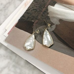 Kendra Scott drop earrings ivory mother of pearl